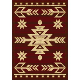 Teton Red Area Rug - Traditional Style Area Rug