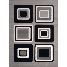 "Spaces Silver Area Rug (94"" X 126"")"