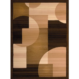 Zoom Zoom Brown Area Rug - Geometric Sytle