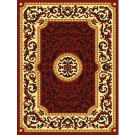 Tisdell Burgundy Area Rug - Traditional Style Area Rug