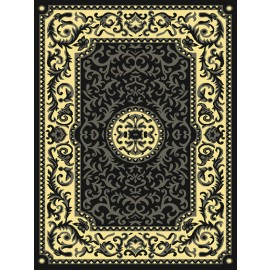 Tisdell Grey Area Rug - Traditional Style Area Rug