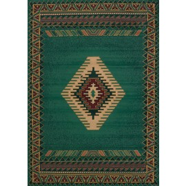 Tucson Lt Green Area Rug - Southwestern Style Area Rug Themed