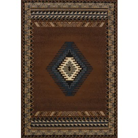 Tucson Brown Area Rug - Southwestern Style Area Rug Themed