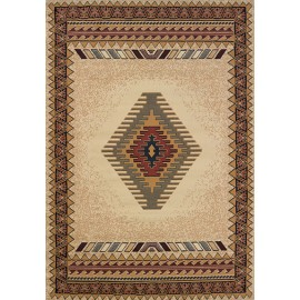 Tucson Cream Area Rug - Southwestern Style Area Rug Themed