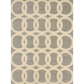 Satin Multi Area Rug - Transitional Style Area Rug