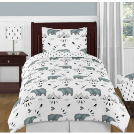 Bear Mountain Bedding Set - 4 Piece Twin Size By Sweet Jojo Designs