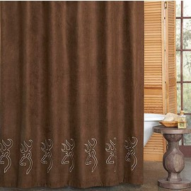 Browning Buckmark Suede Shower Curtain