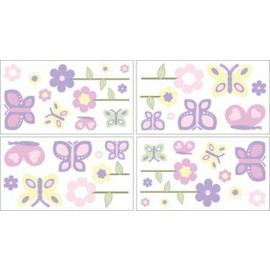 Butterfly Pink & Lavender Wall Decals