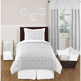 Diamond Gray & White Bedding Set - Twin Size By Sweet Jojo Designs
