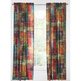 Crayola Etch Rod Pocket Curtain Panel (Single Panel)