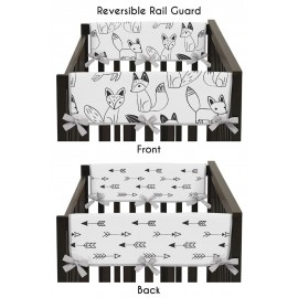 Fox Black & White Collection Side Rail Guard Covers - Set of 2