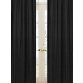 Minky Dot Black Window Panels