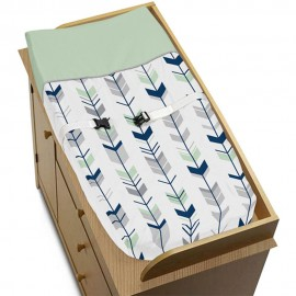 Mod Arrow Gray, Navy & Mint Changing Pad Cover