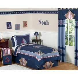 Nautical Nights Bedding Set - 4 Piece Twin Size By Sweet Jojo Designs