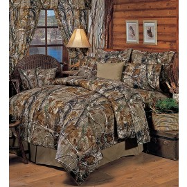 All Purpose Camouflage Comforter Set by Realtree - Twin Size