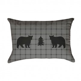 Bear Square Pillow - Oblong - 14X20