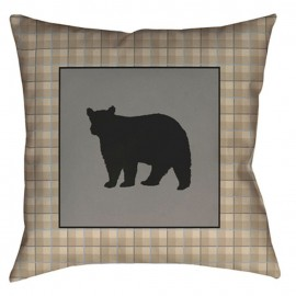 Bear Square Pillow - 20x20 - Tan