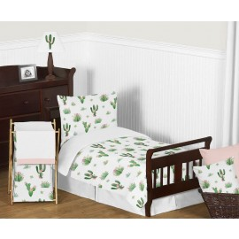 Cactus Floral Toddler Bedding Set By Sweet Jojo Designs