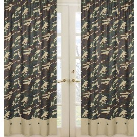 Green Camouflage Window Panels