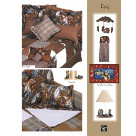 Derby Print Fitted Sheet - Crib Size