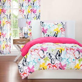 Crayola Flutterby Comforter Set - Twin Size