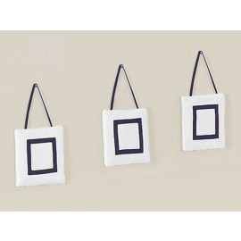 Hotel White & Navy Blue Wall Hanging