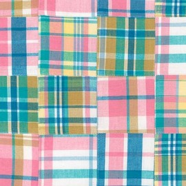 Pink Madras Plaid Bunkbed Topper 4 Corner Hugger Comforters by California Kids