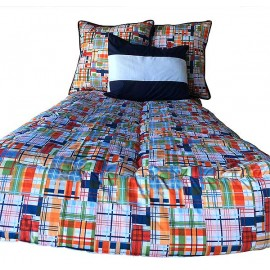 Dorm Bedding - Classic Plaid XL Twin Size Fitted Comforter