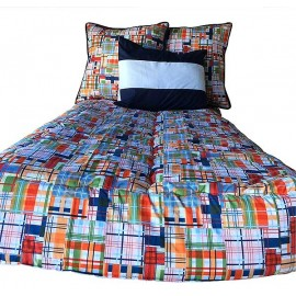 Classic Plaid Bunk Topper 4 Corner Hugger Comforters by California Kids