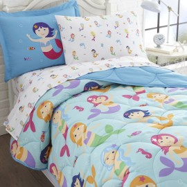 Olive Kids Mermaids Full Size 7 piece Bed in a Bag Set