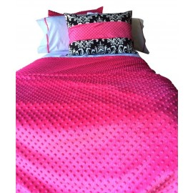 Hot Pink Minly Bunk Topper 4 Corner Hugger Comforters by California Kids