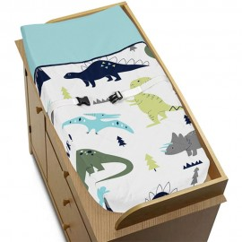 Mod Dinosaur Blue & Green Changing Pad Cover