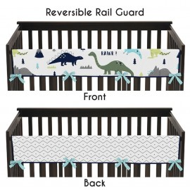Mod Dinosaur Blue & Green Collection Long Rail Guard Cover