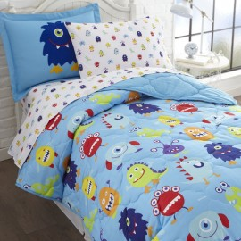 Olive Kids Monsters Full Size 7 piece Bed in a Bag Set