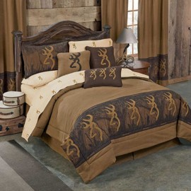 Oak Tree Buckmark Comforter Set - Queen Size