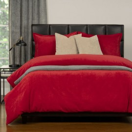 Duvet Cover Set from the Mixology Collection - Twin Size - Berry