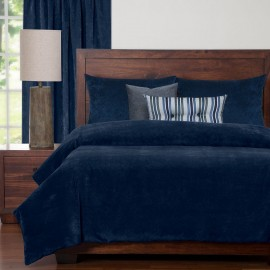 Duvet Cover Set from the Mixology Collection - Twin Size - Blue Bell