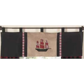 Pirate Treasure Cove Valance