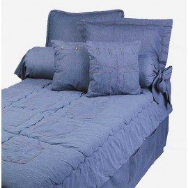 Stonewash Denim Extra Long Twin Size Hugger Style Comforter by California Kids
