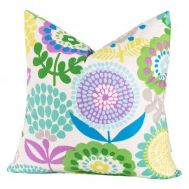 Crayola Pointillist Pansy Square Pillow - 16 X 16 Square