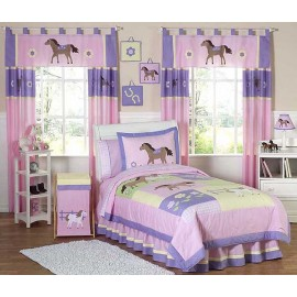 Pony Bedding Set - 4 Piece Twin Size By Sweet Jojo Designs