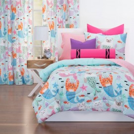 Purrmaids Comforter Set from Crayola