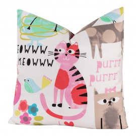 Crayola Purrty Cat Square Pillow - 16 X 16 Square