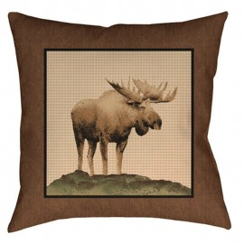 The Lodge Pillow - 20x20 - Moose *
