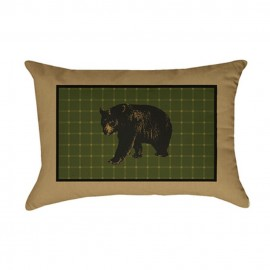 The Lodge Pillow - Oblong - 14x20 - Bear