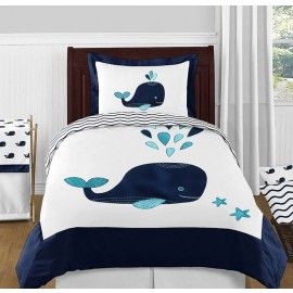 Whale Bedding Set - 4 Piece Twin Size By Sweet Jojo Designs
