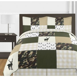 Woodland Camo Comforter Set - 3 Piece Full/Queen Size By Sweet Jojo Designs