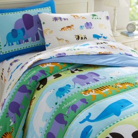 Endangered Animals Twin Size Lightweight Comforter Set