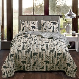 Forest Weave Quilt Set - Twin Size