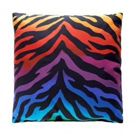 Rainbow Zebra Print Accent Pillows